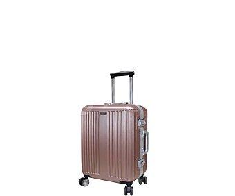 AIRPORT Maleta de viaje para cabina, fabricada con resistente material rígido abs, 4 ruedas multidireccionales, color rosa dorado alcampo