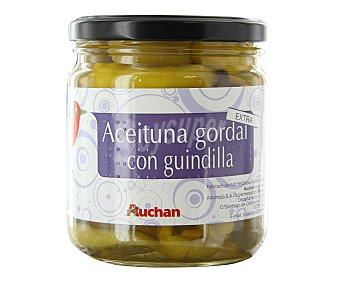 Auchan Aceitunas Gordal Con Guindillas Extra 160 g