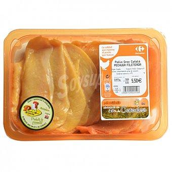 Carrefour Filete Pechuga de Pollo Certificado 600 g aprox Bandeja de 650.0 g. aprox