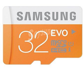Samsung Tarjeta de memoria Microsdhc de 32 GB, de alta velocidad, 48MB/s, clase 10. 1 unidad