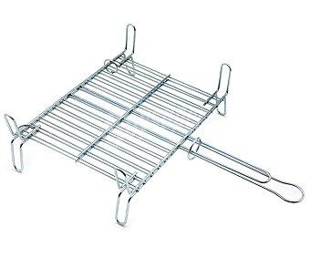 DALPER Parrilla doble de hierro para barbacoas, 40x37 centímetros 1 unidad