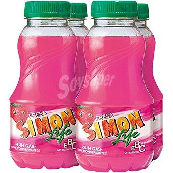 SIMON LIFE Refresco sabor fresa  4 unidades de 200 ml