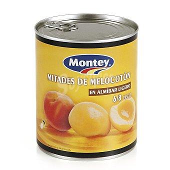 Montey Mitades de melocotón en almíbar ligero Lata 480 gr