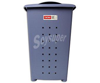 Tatay Cesto con tapa, 'pongotodo' de plástico color azul, 60 litros 1 Unidad