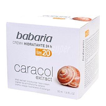 Babaria Crema hidratante facial extracto de caracol FPS 20 50 ml