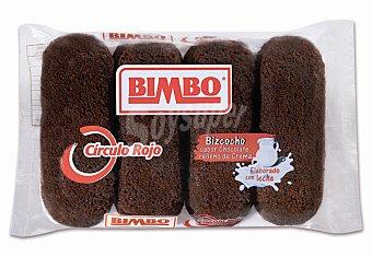 Bimbo-Círculo Rojo Bizcochos de chocolate relleno de crema Pack de 4x38 g