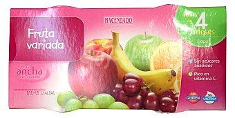 HACENDADO Tarrito fruta variada a partir de 4 meses 4 unidades de 130 g