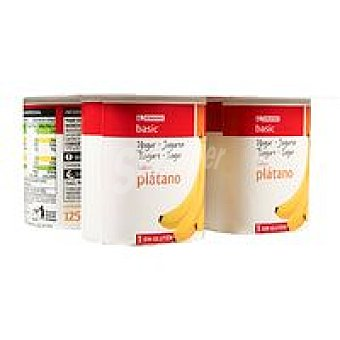 Eroski Basic Yogur de plátano Pack 4x125 g