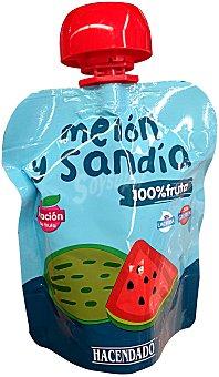 HACENDADO Fruta bolsillo melón y sandía a partir de 12 meses BOLSA 90 g