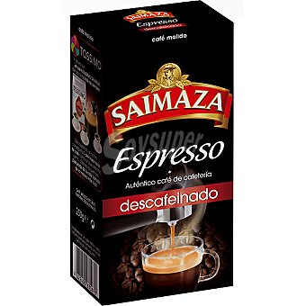 SAIMAZA Espresso Café Descafeinado Molido Espresso  Paquete 250 g