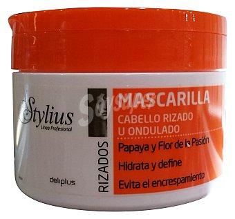 Deliplus Mascarilla cabello rizos stylius (tapón naranja) Tarro 300 cc