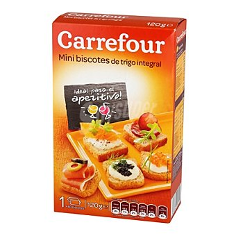 Carrefour Mini biscottes integrales 120 g