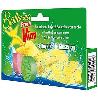 Ballerina Bayeta Fresh de colores 50x35 cm blister 3 unidades