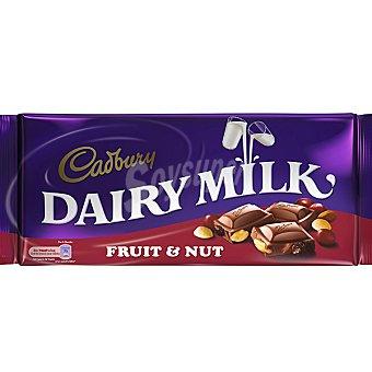 CADBURY Dairy Milk Fruit Nut Chocolate con leche avellanas y pasas tableta 360 g Tableta 360 g