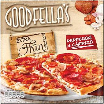 pizza con chorizo y pepperoni masa extrafina estuche 310 g estuche 310 g