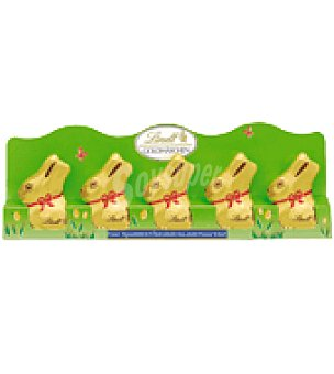 Lindt Conejitos de chocolate pack de 5x10 g