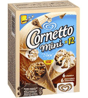 Frigo Cornetto Miniconos de vainilla y chocolate 'cornetto Miniature' Caja de 12 ud