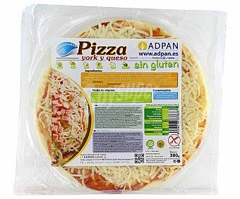 Adpan Pizza York y queso sin gluten 380 Gramos