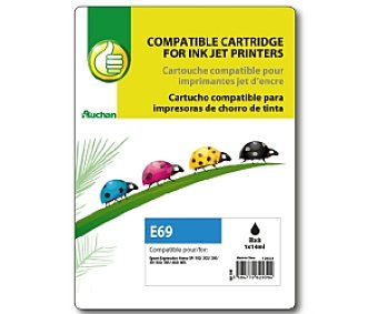Productos Económicos Alcampo Cartucho Negro T18XL (E69) - Compatible con impresoras: XP-30 / XP-102 / XP-202 / XP-205 / XP-302 / XP-305 / XP-402 / XP- 405