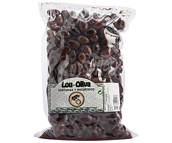Lou-oliva Aceituna Negra del Bajo Aragón Bolsa de 1 Kilogramo