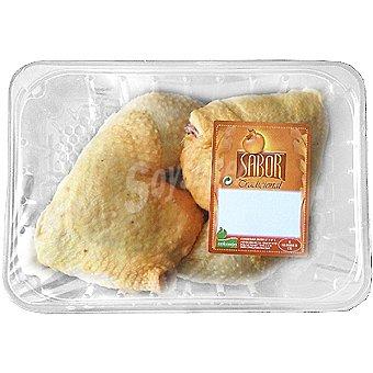 SABOR Muslos de pollo 2 unidades peso aproximado bandeja 600 g 2 unidades