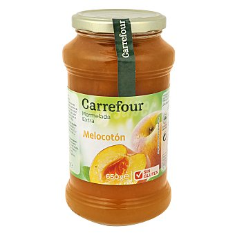 Carrefour Mermelada extra de melocotón sin gluten 650 g