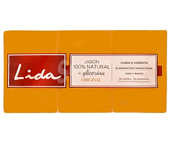 Lida Jabón de glicerina 3 unidades de 125 g
