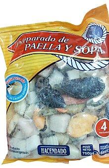 Hacendado Arreglo paella y sopa pescado congelado Paquete 750 g