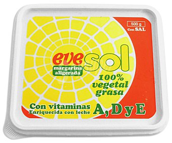 Evesol Margarina con sal Tarrina 500 g