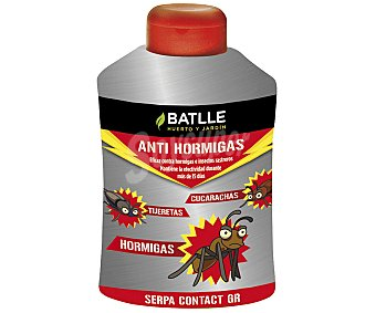 BATLLE Antihormigas granulado que actua por contacto contra hormigas, cucarachas, arañas e insectos rastreros 500 gramos