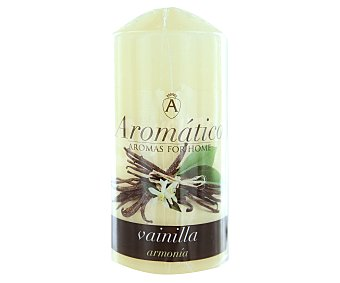 AROMÁTICO Vela cilíndrica perfumada con olor a vainilla 1 Unidad