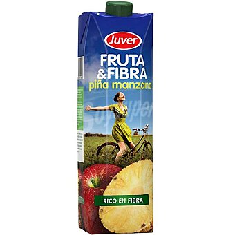 Juver Zumo piña manzana Fruta & Fibra Envase 1 l