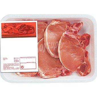 MONTAÑES Chuletas de lomo de cerdo peso aproximado Bandeja 500 g