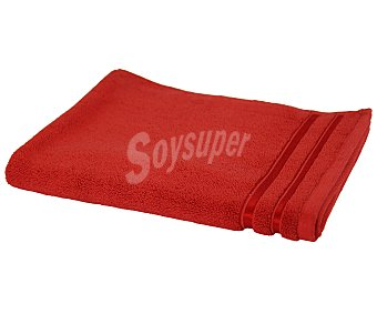 Actuel Alfombra tejido rizo 100% algodón color rojo, densidad de 1000 gramos/metro², 50x70 centímetros 1 unidad