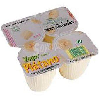 Cantarranas Yogur de plátano Pack 4x125 g