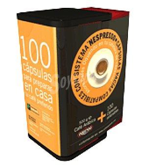 Oquendo Café molido natural cofibox + cápsulas 100 ud