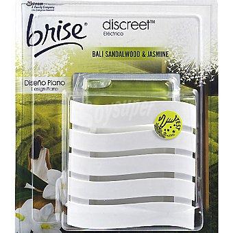 GLADE Brise Discreet Ambientador eléctrico Bali Sandalwood & Jasmine diseño plano aparato + recambio