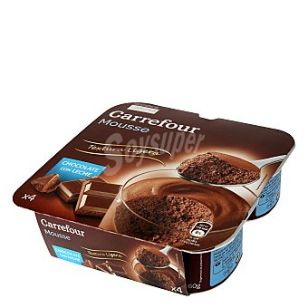 Carrefour Mousse de chocolate Pack 4x60 g