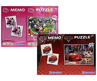 Disney Puzzle de 60 piezas + juego de memoria Memo