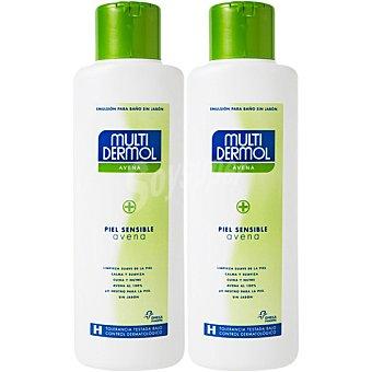 Multidermol Medical gel de baño sin jabón para piel sensible con avena efecto calmante e hidratante 1 pack 2x750ml