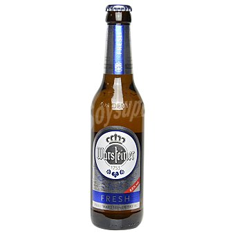 Warsteiner Cerveza fresh 0,0 sin alcohol Botella 33 cl