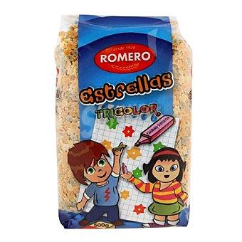 Romero Pasta con forma de Estrella tricolor 500 g