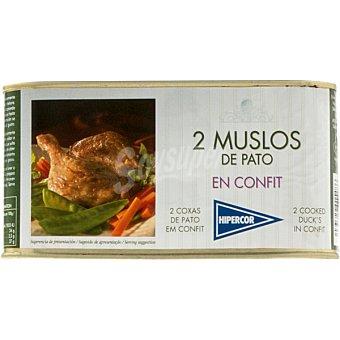 Hipercor Muslos de pato en confit lata 450 g Lata 450 g