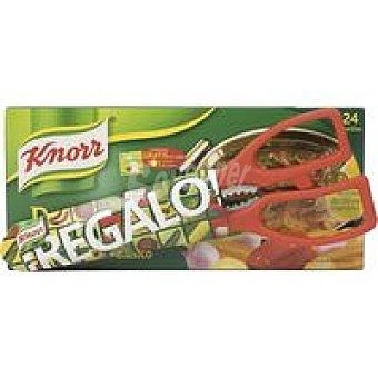Knorr Caldo de carne 24 pastillas, pack 255 g + Tijeras