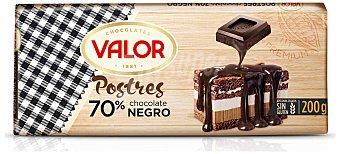 Valor Chocolate negro 70% para postres tableta 200 g