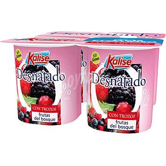 Kalise Yogur desnatado con frutas del bosque Pack 4 unds. 125 g
