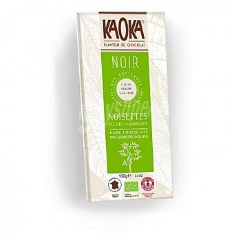 Chocolate negro con avellanas caramelizadas ecológico Kaoka 100 G 100 g