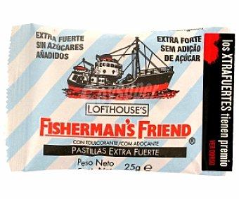 FISHERMANN`S Caramelos menta extrafuertes sin azúcar 25 Gramos