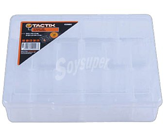 TACTIX Organizador con tapa transparente y 14 compartimentos 1 unidad