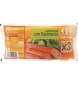 Carrefour Salchichas con espinacas 250 g